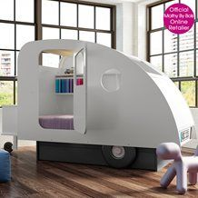 Kids bed caravan from Cuckooland. What colour would you paint it? Retro for sure...