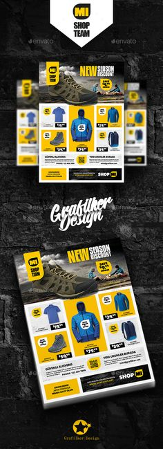 Shopping Product Flyer Template PSD, InDesign INDD