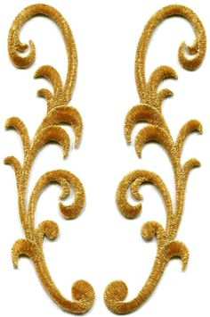 Gold Trim Applique Iron on Patches | eBay. Nice design but too delicate to add stones to it.