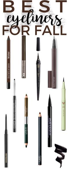 10 Best eyeliners for fall - From the perfect cat eye, winged out look, smokey eye and everything in between, these new eyeliners will deliver the most bold, black and pigment-rich shades of color for fall.