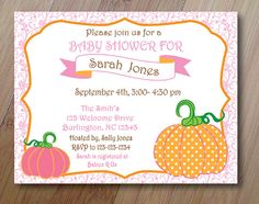 Pretty Pink Pumpkin Birthday or Baby Shower by PenguinPartyPress