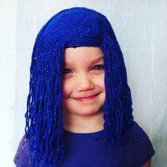 Sadness Wig Kids Costumes Inside Out Sadness by PoshPrincessBraids