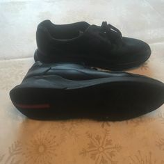 8972d02ede8 Prada Shoes   Men Leather Prada Sneakers Size Us 11   Color: Black   Size:  11