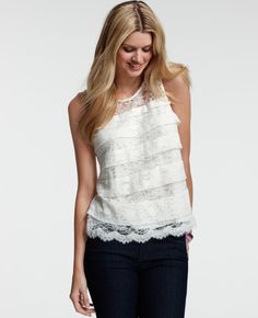 Cute lace top from Ann Taylor!
