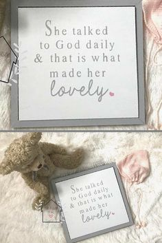 Little Girl Nursery or Bedroom Sign - She Talked To God Daily And That Is What Made Her Lovely - Home Decor, Farmhouse Sign, Rustic Sign, Shabby Chic Nursery, Modern Farmhouse Decor, Farmhouse Nursery, Nursery Sign, Girl Nursery Decor, Baptism Gift, Nursery Prayer, Children's Prayer, Baby Shower Gift Idea, Religious Sign, Inspirational Sign #afflink