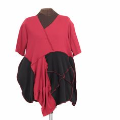 Hearts Are Trump: red and black tunic - Secret Lentil Clothing
