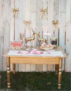 Cute pink and gold valentine's bridal shower