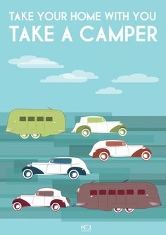 'Vintage Journey' Travel Poster - for OtherwiseTheSame Take You Home, Textile Artists, E Design, Travel Posters, Travelling, Camper, Challenges, Journey, Fun