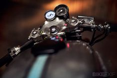 Honda CX500 custom motorcycle. love the mechanistic look and the small analog gauges. Classic.