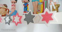 Estrellas de hama beads para decorar.