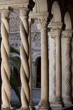 Lateran cloister columns Rome. I've been here. Lovely place.