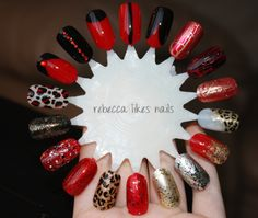 black-red nails