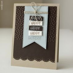 Handmade: Geburtstagskarte für den Mann // Geburtstagskarten für Männer und 10 Gründe warum ich meine Karten selber bastle - Love & Lilies