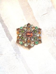 Vintage Designer Liz Claiborne Brooch Autumn Jewels From NorthCoastCottage, $49.00 #vintage #jewelry #etsy