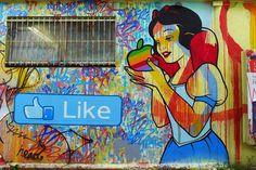 Stiki Fly @narvaland - Disney Snow White Apple like street art