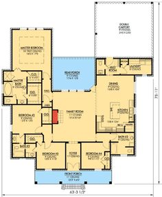 Country style house plans 1400 square foot home 1 story for Cretin homes evangeline floor plan