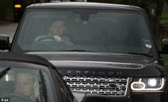 Wayne Rooney waits in traffic as he arrives at Manchester Uniteds training ground Manchester United Training, Wayne Rooney, Man United, Pom Poms, Chelsea, The Unit, Sports, Bavaria, Manchester United