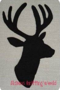 Applique Patch Stag Head Deer Head Buck Head Black Scottish Fabric Fine Wool Cut Out Iron On Sew On Embellishment Decoration Fabric Patch, Wool Fabric, Cashmere Fabric, Cashmere Wool, Appliance Covers, Stag Head, Burp Cloths, E Bay, Etsy Store