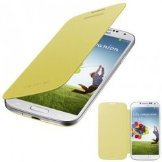 Funda Samsung Galaxy S4 Flip Cover Original - Amarilla