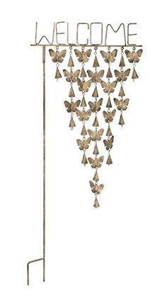 Decorative Garden Stakes - Deco 79 24305 Metal Butterfly Garden Stake ** Continue to the product at the image link. (This is an Amazon affiliate link)