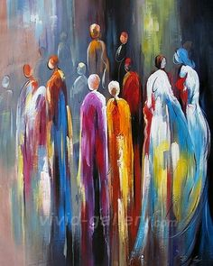 olieverfschilderijen abstract | Modern Figure Girls - Abstract Figure Oil Paintings - vivid-gallery ...
