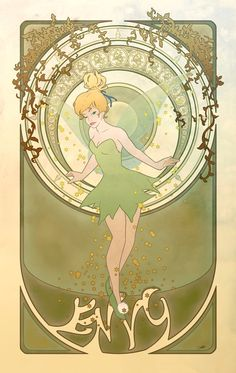 Seven Deadly Sins, Disney Princesses, and Art Nouveau... I'm smitten.