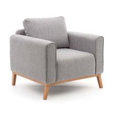 Bjorn szary fotel styl skandynawski