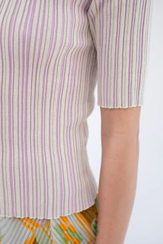 Julia Heuer Fred Knitted Pleats Top – Beklina Sweater Design, Body Types, Beautiful Hands, Mock Neck, Sweaters, How To Wear, Cotton, Collection, Tops