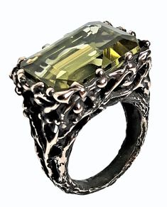 Resalio Gioielli Citrine Ring from Private Collection Hand Made 100% Italy
