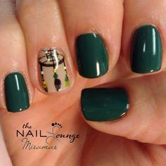 Dream catcher gel nail art