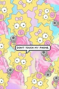 Trippy iphone wallpaper · wallpaper, simpsons, and phone dont touch my phone wallpapers, wallpaper for your phone Cartoon Wallpaper, Simpson Wallpaper Iphone, Funny Phone Wallpaper, Tumblr Wallpaper, Funny Wallpapers, Screen Wallpaper, Cool Wallpaper, Iphone Wallpapers, Tumblr Backgrounds