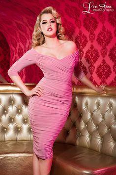 Monica Dress in Pale Dusty Rose
