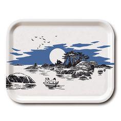 Mumin Tablett 27x20cm, The Island, Opto Design