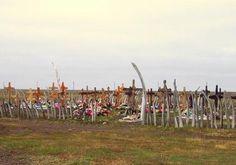 Whale Bone Fence around a Eskimo Cemetery
