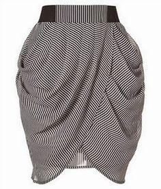 yo elijo coser: Patrón gratis: falda tulipán con drapeado (todas las tallas)