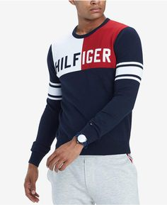9b6c81e2d Tommy Hilfiger Men's Big & Tall Bedford Colorblocked Sweater, Created for  Macy's Men - Sweaters - Macy's