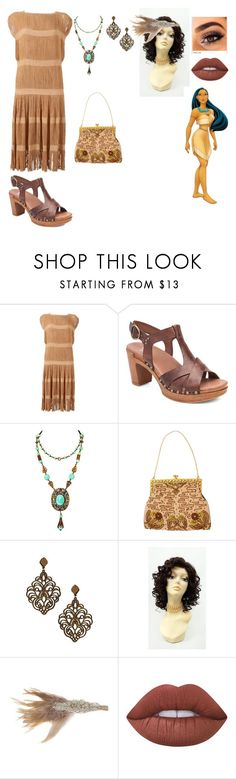 """""""Vintage Disney Princess-Pocahontas"""" by thespine ❤ liked on Polyvore featuring Dansko, Lime Crime, Disney and vintage"""