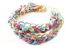 Plaited Bracelet DIY Jewellery Kit by checkmybox on Etsy, $23.50