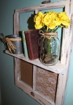 DIY window shelf