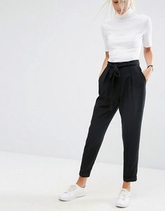 ASOS | ASOS Woven Peg Pants with OBI Tie