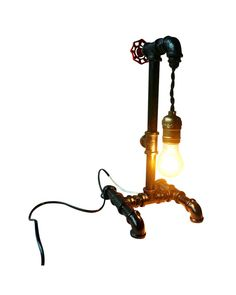 Add a bit vintage or industrial taste to your room with this unique design plumbing pipe lamp. The innovation of using industrial household materials-plumbing iron pipe and fittings, gives this table lamp a trendy industrial look with a touch of elegance and chic. An Edison bulb could complement the design perfectly, and give off romantic and warm light to brighten up your space and your mood as well.