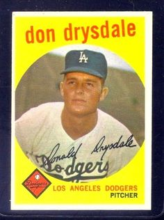1959 Topps #387 Don Drysdale LOS ANGELES DODGERS ~ NM