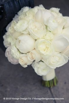 delicate bouquet of garden roses, peonies and ranunculus. by marcella