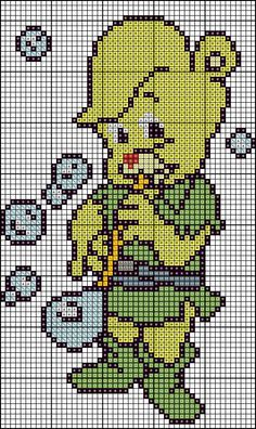 gummy bears Beading Patterns, Knitting Patterns, Crochet Patterns, Hama Beads Patterns, Beaded Cross Stitch, Cross Stitch Embroidery, Cross Stitch Patterns, All Cartoon Characters, Mini Hama Beads