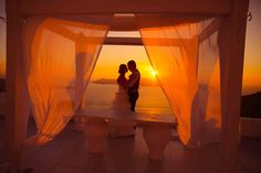 Sunset Ceremony at Dana Villas. Planning by Marvellous Wedding. Photo by Marina Gruzdyeva