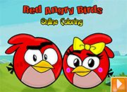 Red Angry Birds Online coloring