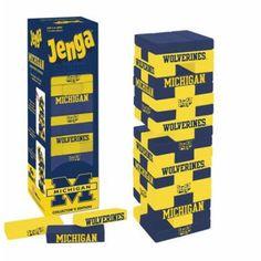 University of Michigan Jenga Michigan Gear, Michigan Go Blue, American Football Memes, 30th Birthday For Him, Football Man Cave, Ohio State Football, College Football, University Of Michigan, State University