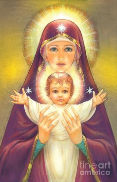 Google+ Divine Mother, Blessed Mother Mary, Blessed Virgin Mary, Catholic Art, Religious Art, Immaculée Conception, Images Of Mary, Mother Mary Images, Mama Mary