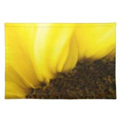 Sunflower Close Up 175 Cloth Placemat - kitchen gifts diy ideas decor special unique individual customized