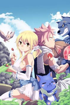 Fairy tail, lucy and natsu Fairy Tail Lucy, Fairy Tail Nalu, Fairy Tail Fotos, Arte Fairy Tail, Fairy Tail Images, Fairy Tail Pictures, Fairy Tale Anime, Fairy Tail Girls, Fairy Tail Ships